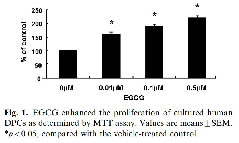 EGCG green tea hair growth study
