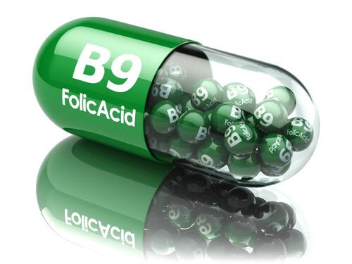A folic acid capsule