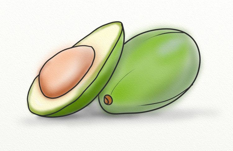Avocado is a food rich in omega acids