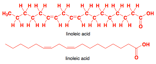 chemical structure of linoleic acid