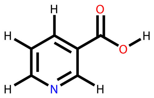 The structural formula of niacin