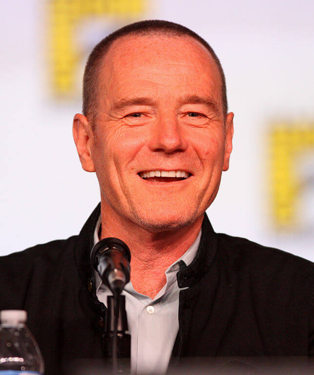 Bryan Cranston with a buzz cut