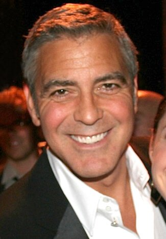 George Clooney wearing the caesar cut
