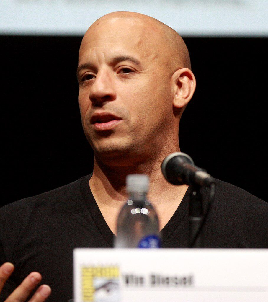 Vin Diesel with clean shave