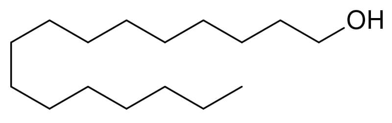 The skeletal structure of cetyl alcohol