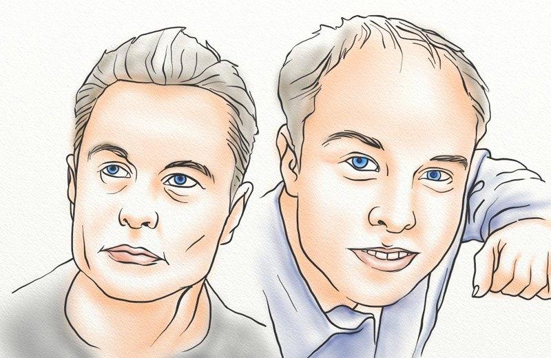 Elon Musk hair transformation