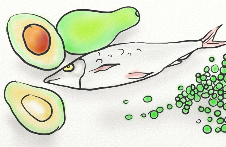 Fish, avocado and peas are foods that contain high amounts of niacin
