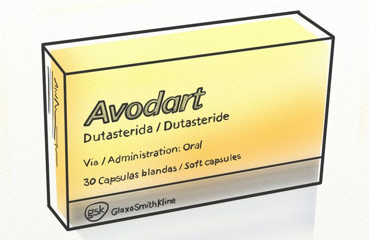 Avodart dutasteride prescription blocks DHT