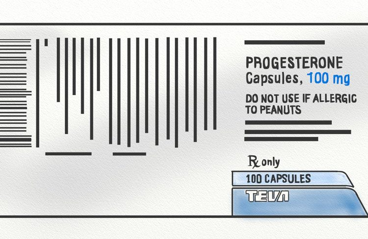 100mg progesterone capsules