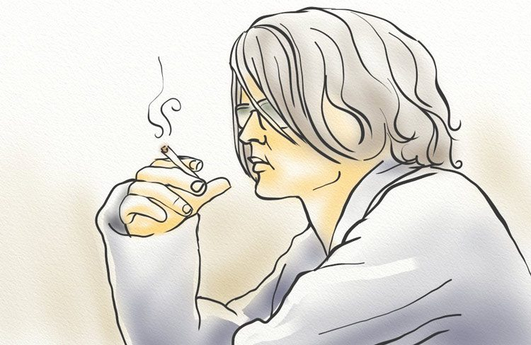 Smoking reduces collagen content of skin and reduces blood oxygen