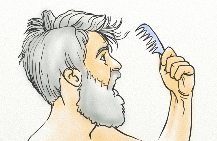 A man worried about his temporary hair loss