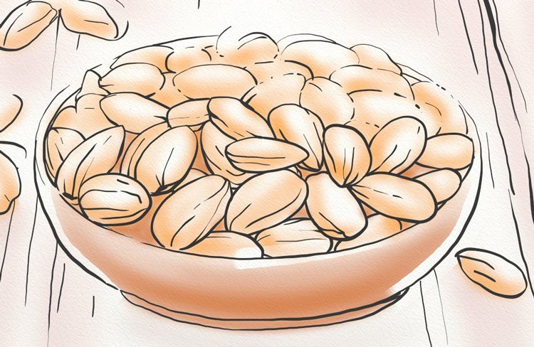 Foods that contain high amounts of zinc includes almonds