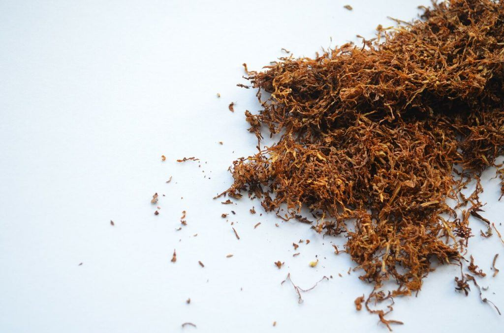 tobacco on a table