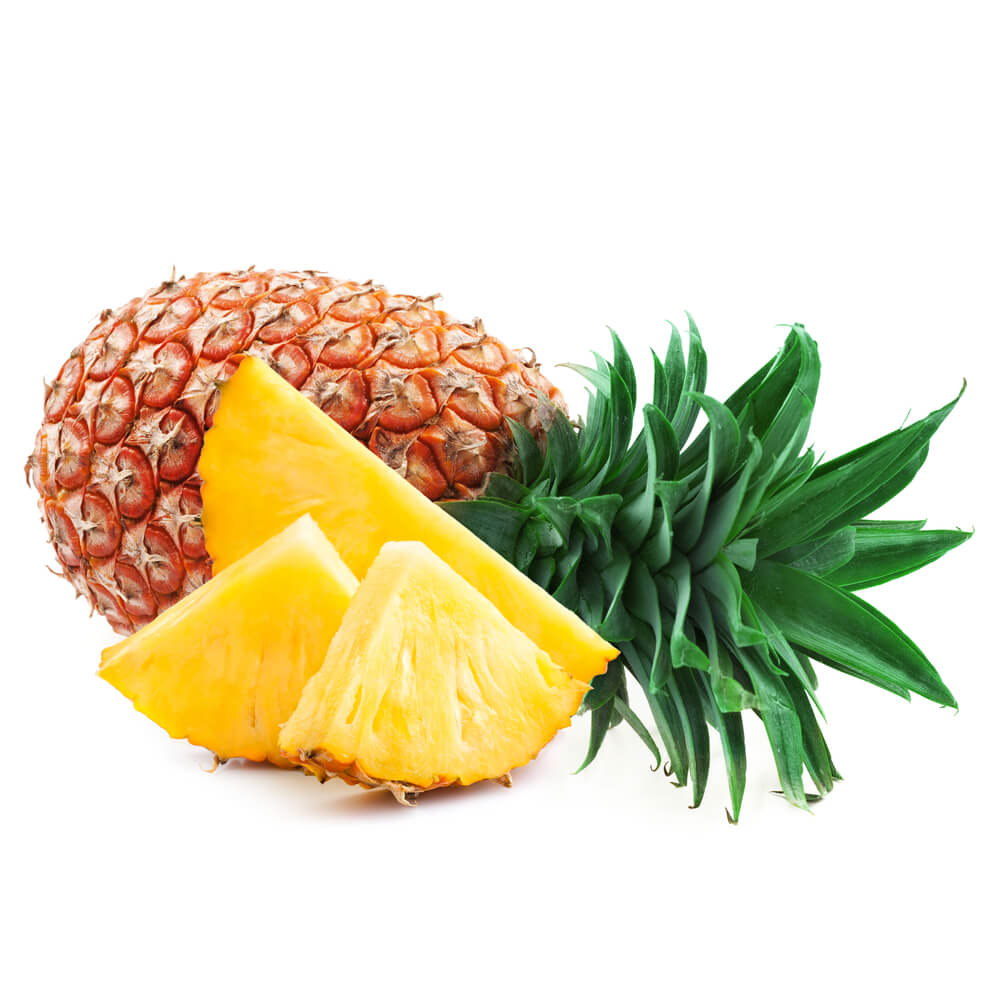 A chopped pineapple