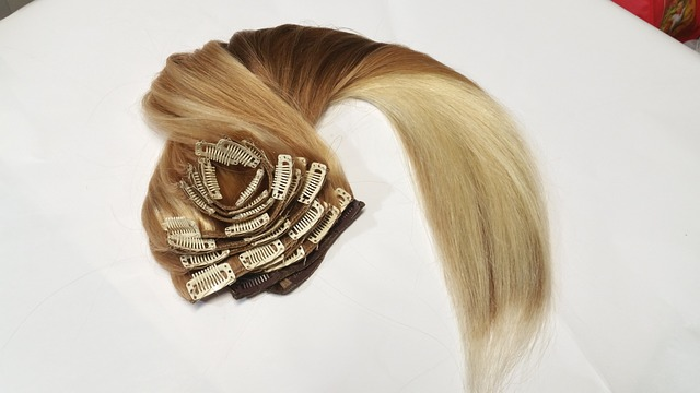 A clip-in hair extension
