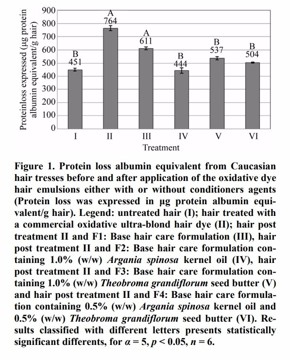 The loss of protein in dyed hair