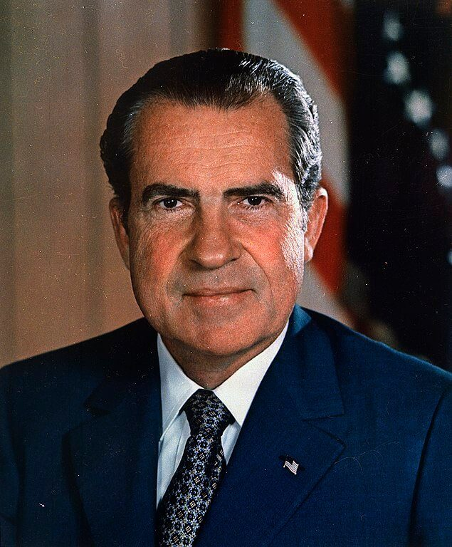 Richard Nixon with a stage 3 hairline