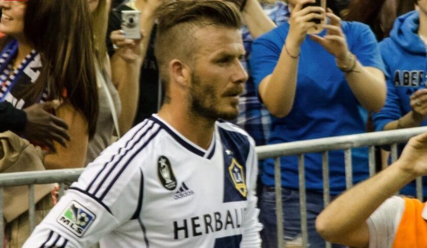 David Beckham sporting an undercut