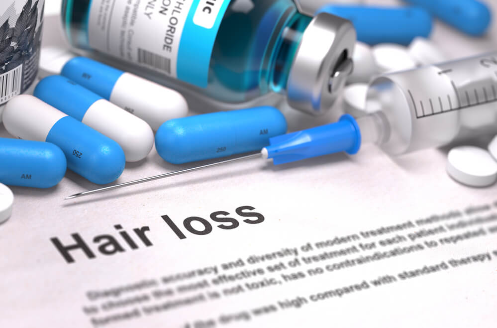 Medication on a 'hair loss' paper