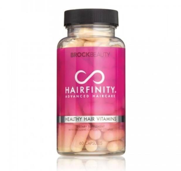 A bottle of Hairfinity Healthy Hair Vitamins