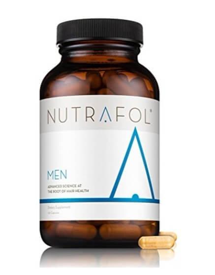 A bottle of Nutrafol Men's