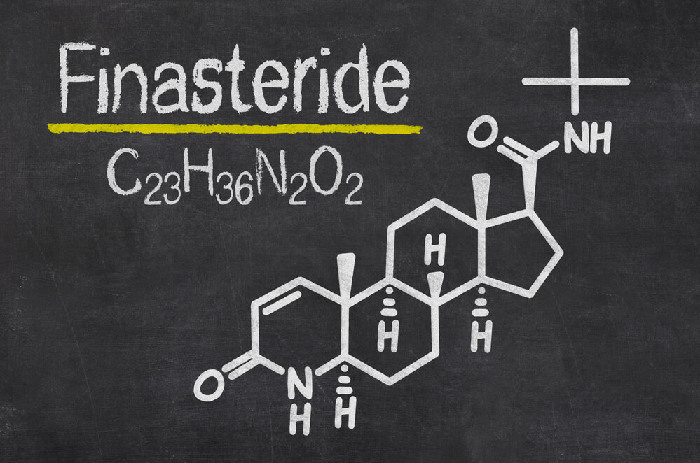 The chemical structure of finasteride (Propecia)