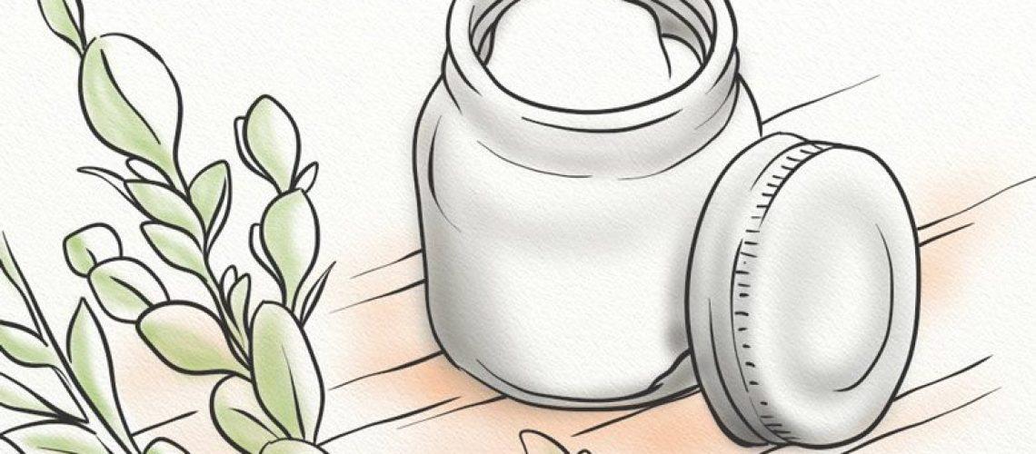 A jar of shea butter