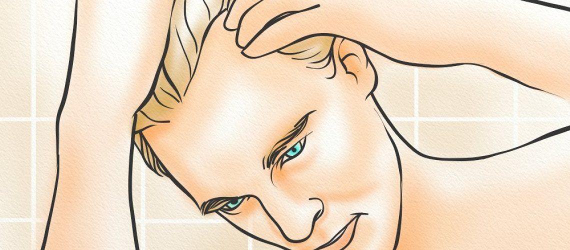 A man applying Wild Hair Growth Oil